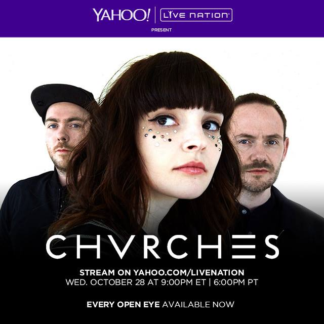 CHVRCHES Live Stream Tomorrow from The Fillmore Charlotte