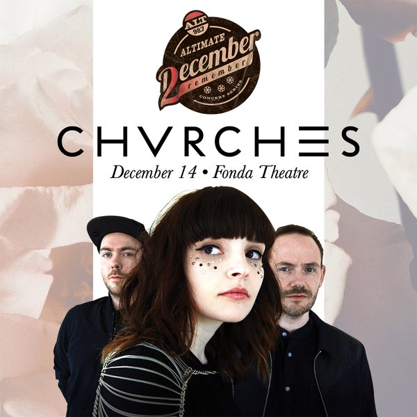 CHVRCHES to Play Inaugural ALTimate December 2 Remember Concert Series