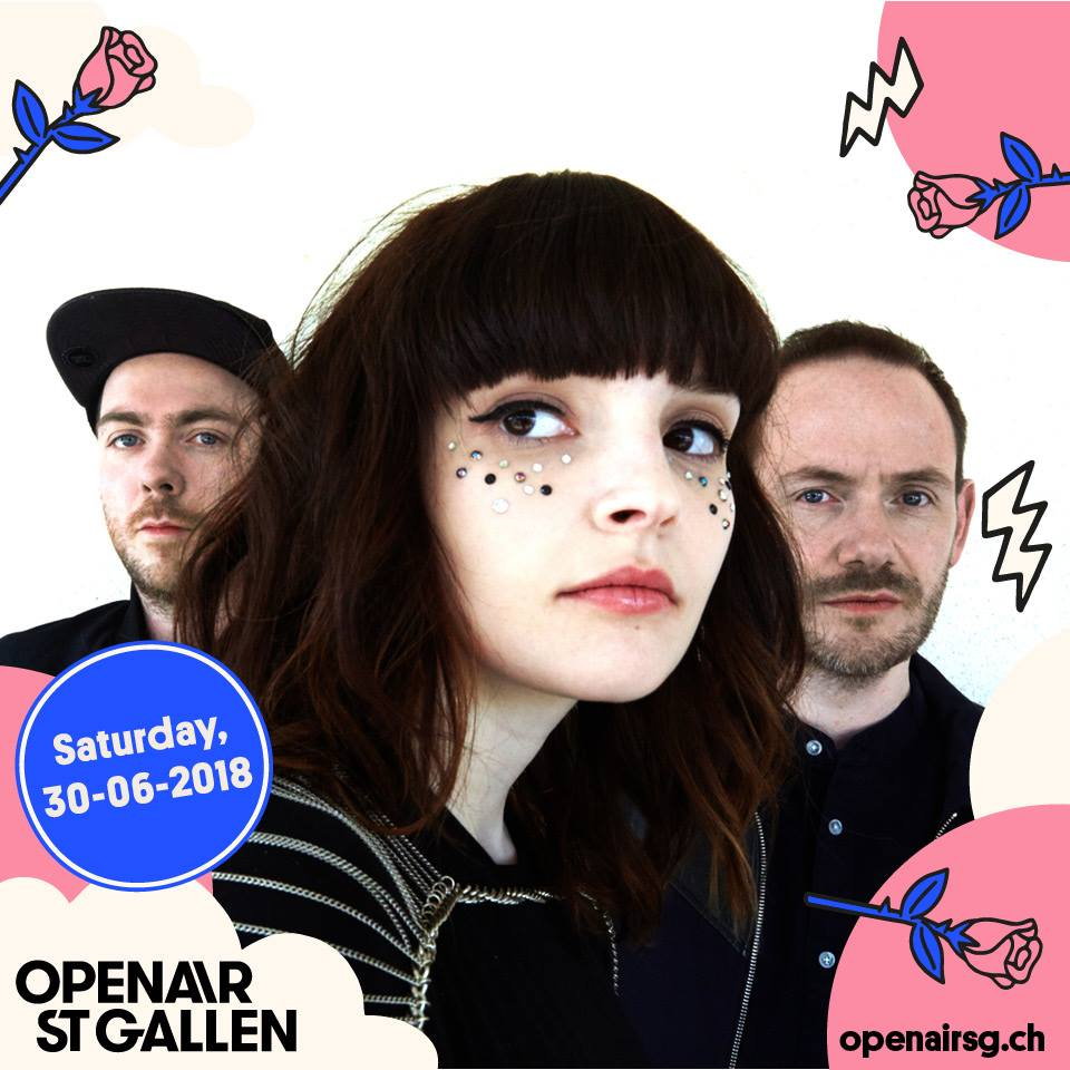 CHVRCHES Are Headed to Switzerland for OpenAir St. Gallen this Summer
