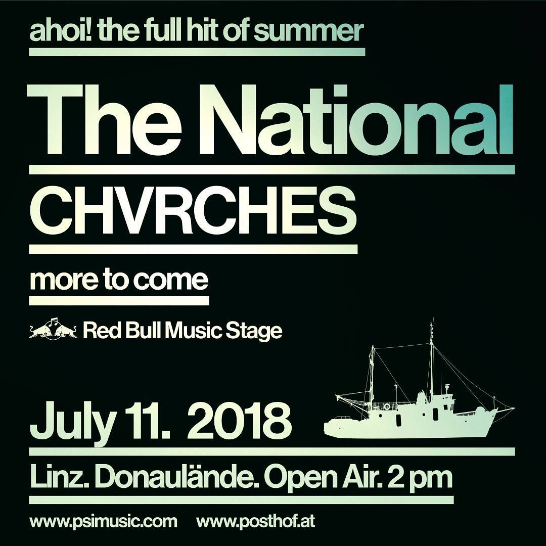 Ahoi! The Full Hit of Summer with The National & CHVRCHES