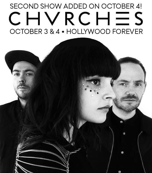 CHVRCHES Add Second Show at Hollywood Forever this October