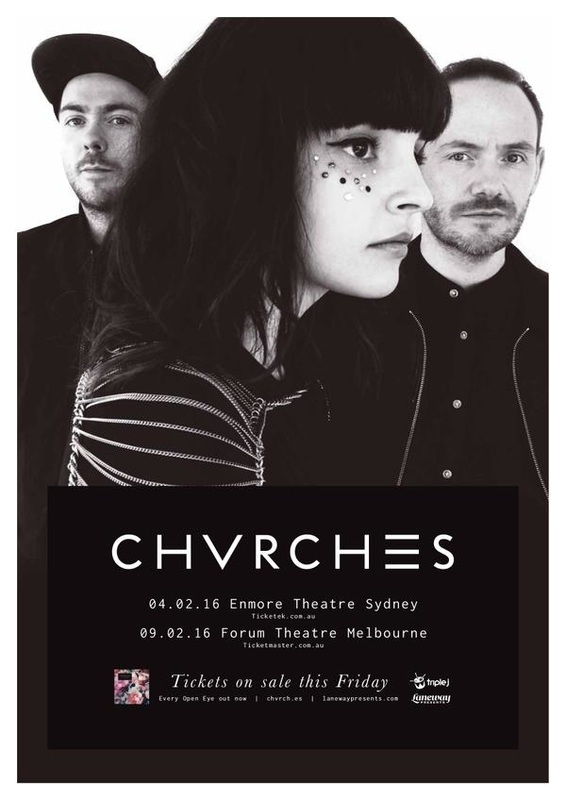 CHVRCHES Announce Laneway Festival Sideshows