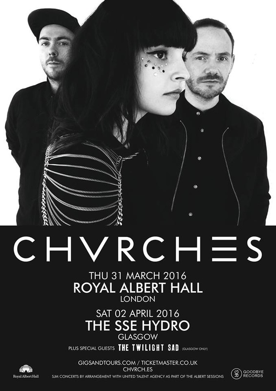 CHVRCHES Announce Two Massive UK Shows for 2016