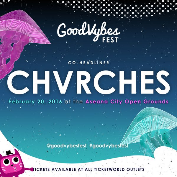 CHVRCHES Return to the Philippines for GoodVybes Festival in February