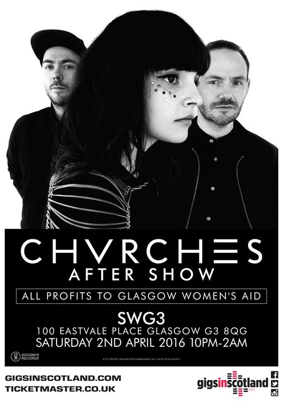 CHVRCHES After Show in Glasgow