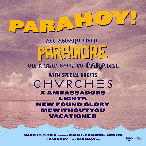 CHVRCHES Set Sail with Paramore this Coming March