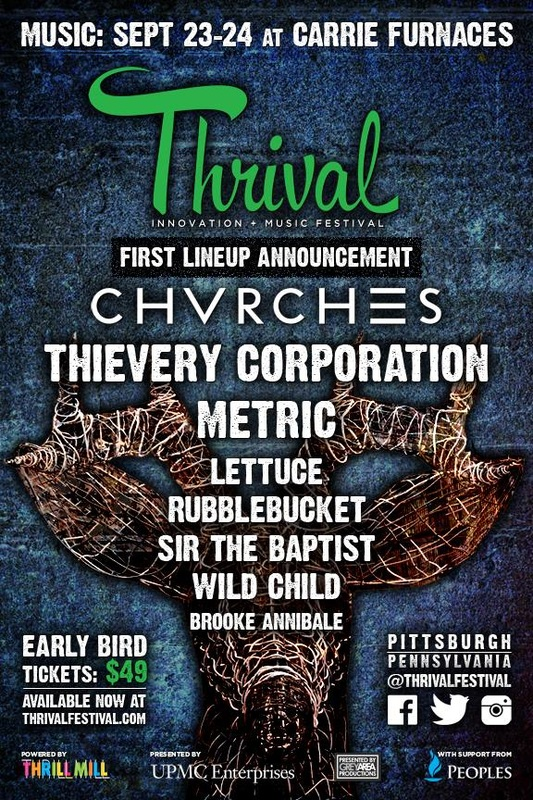 CHVRCHES Will Perform at Thrival Festival this September