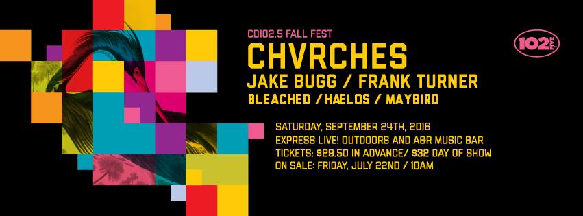 CHVRCHES to Headline CD102.5 Fall Fest