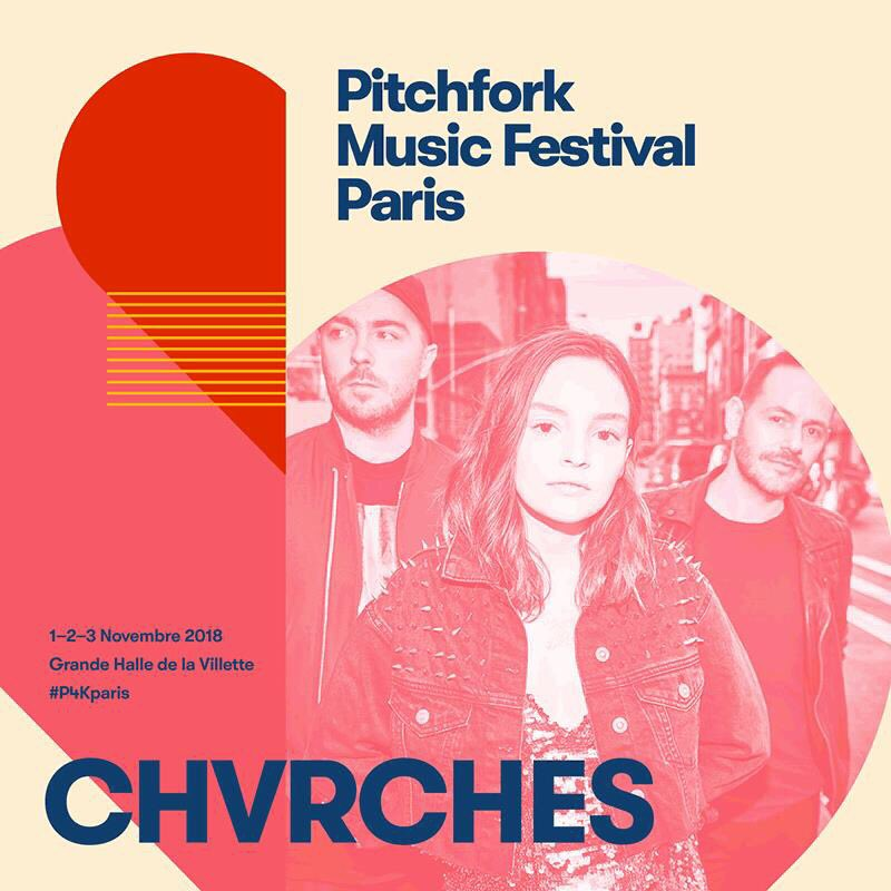 CHVRCHES Have Been Added to the Pitchfork Paris Lineup