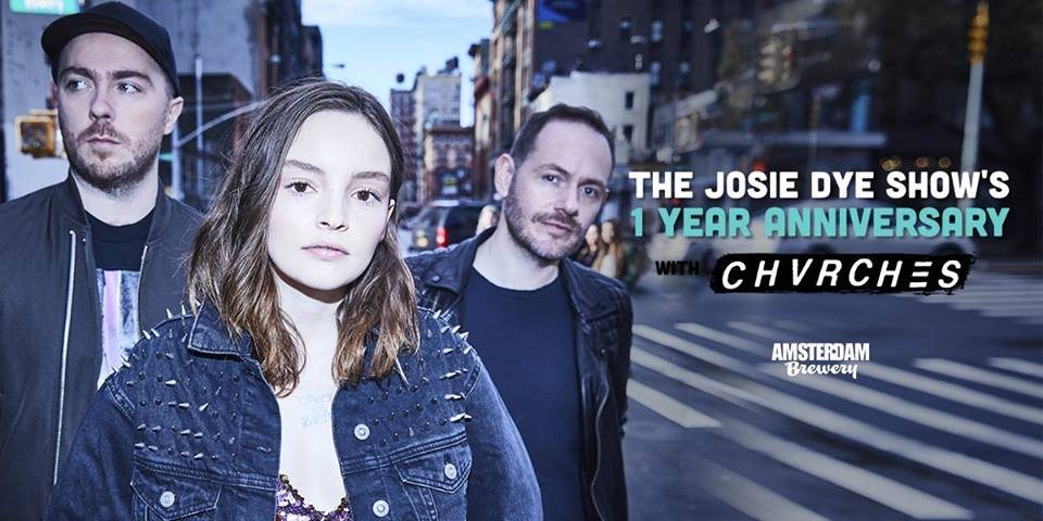 CHVRCHES to Play the Josie Dye Anniversary Show in Toronto this May