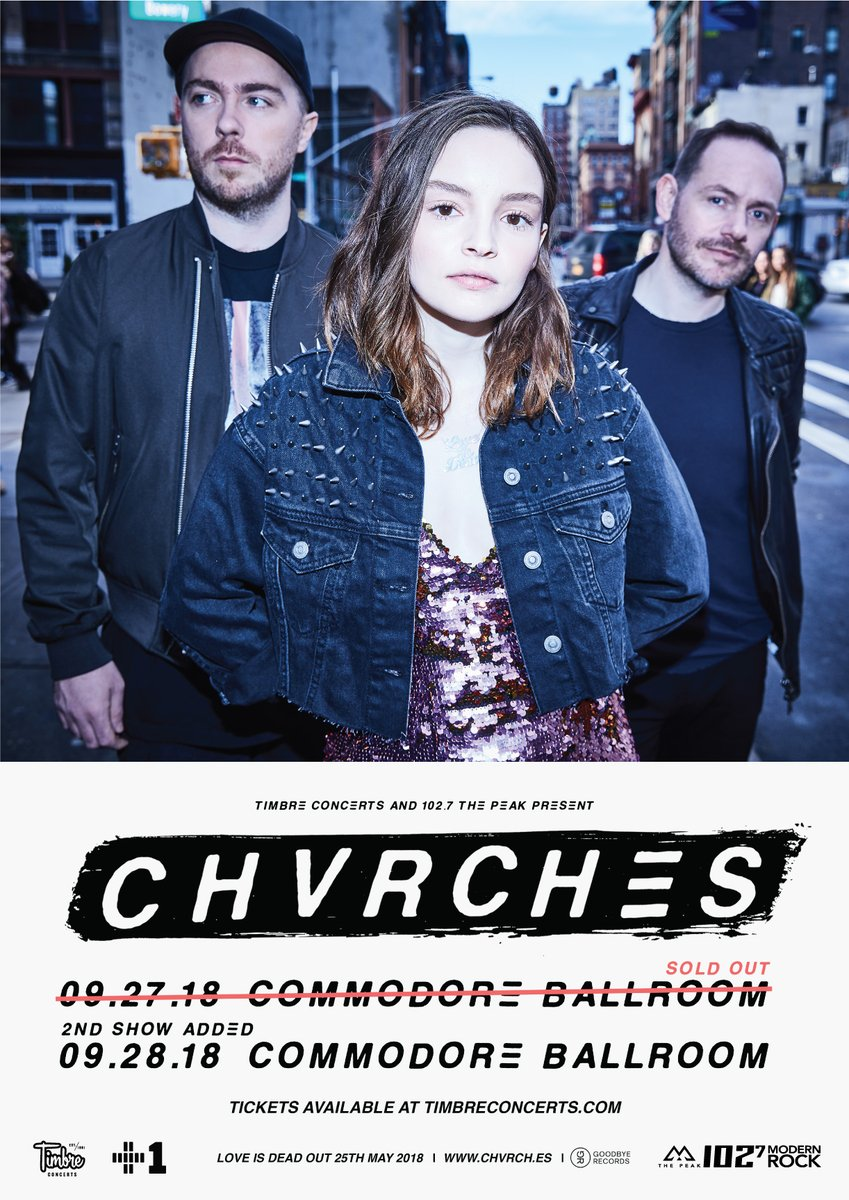 CHVRCHES Add a Second Show in Vancouver this September