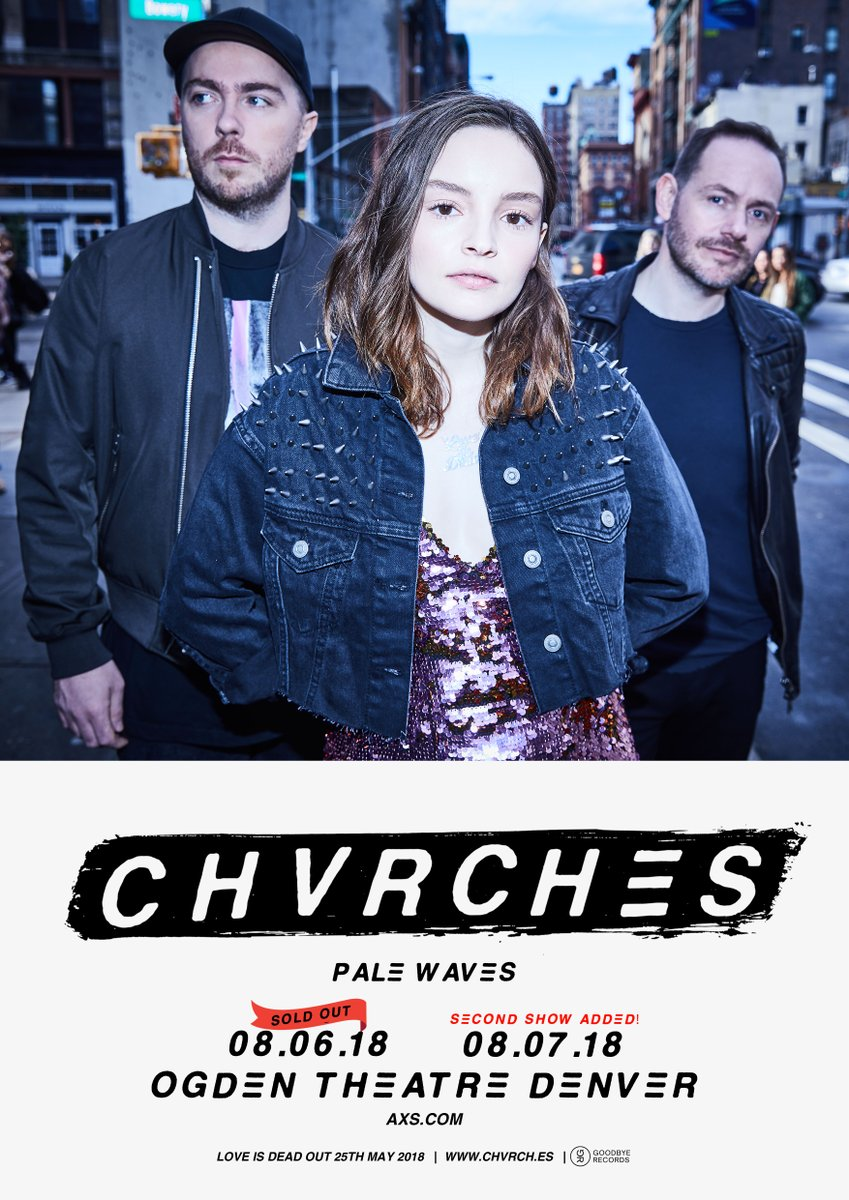 CHVRCHES Add a Second Show in Denver this August