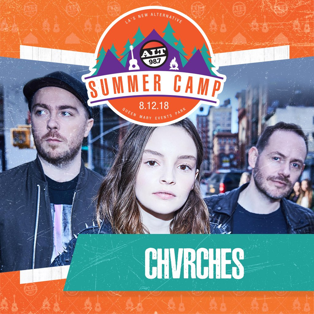 CHVRCHES Are Headed to ALT 98.7 Summer Camp in Los Angeles this Summer