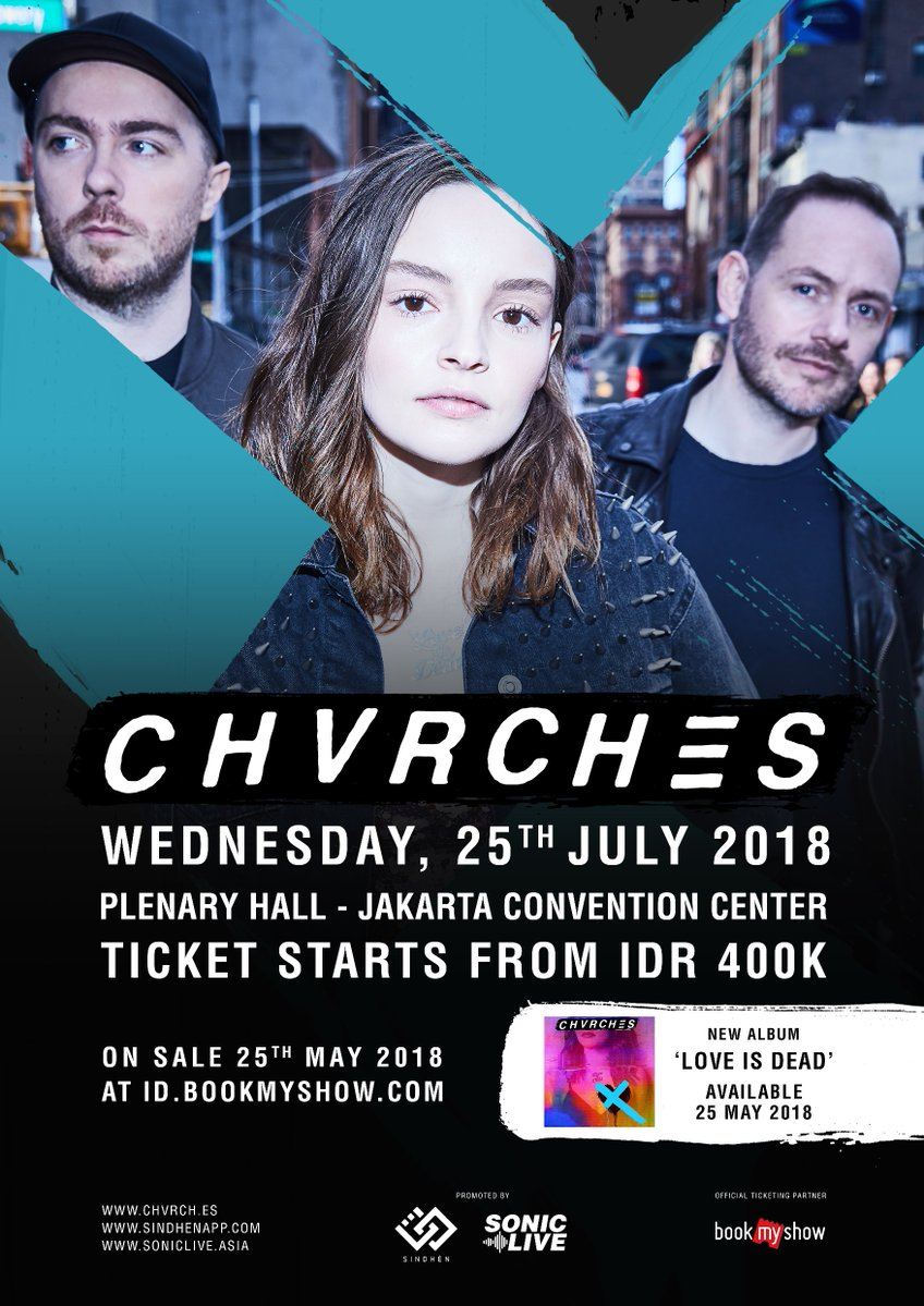 CHVRCHES Are Playing in Indonesia For the First Time This July
