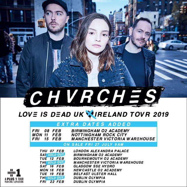 CHVRCHES Add Dates to Their UK & Ireland Tour in February 2019