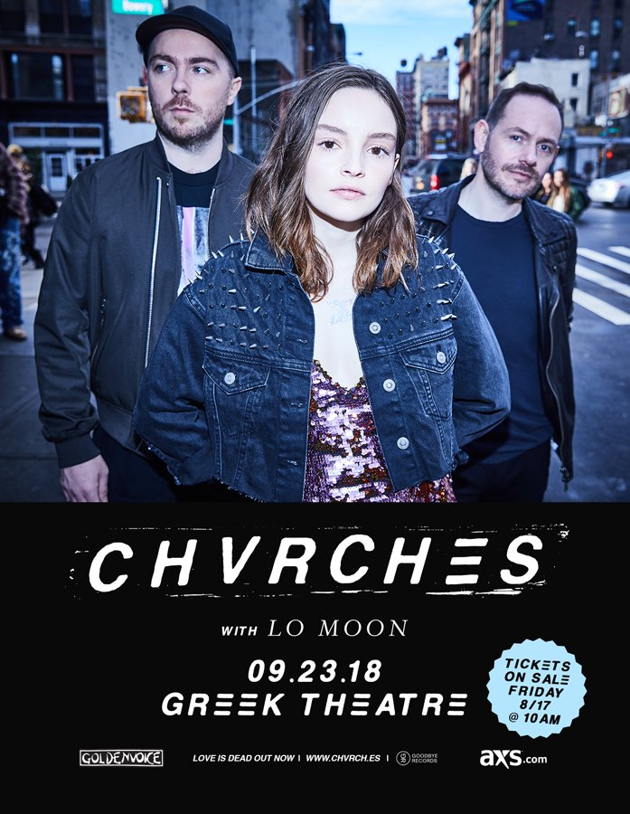 CHVRCHES to Play the Greek Theatre in Los Angeles Next Month