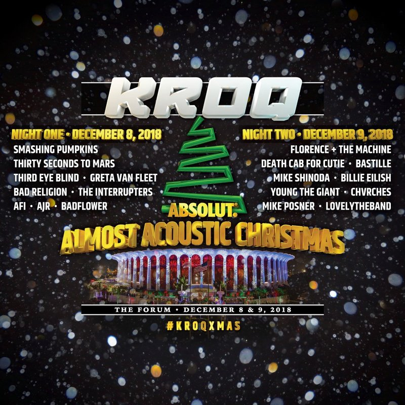 CHVRCHES Are Playing KROQ's Almost Acoustic Christmas in Inglewood