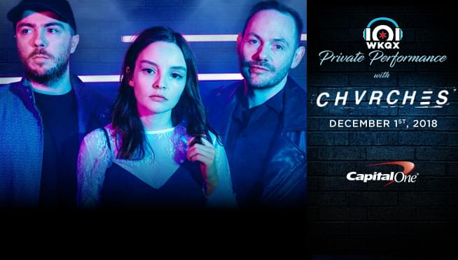 Win Passes to See CHVRCHES' Private Performance in Chicago Hosted by 101.1 WKQX