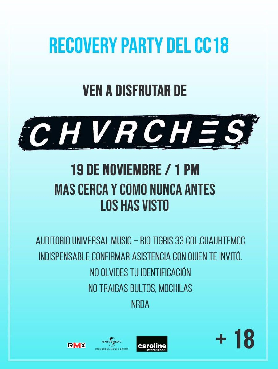 CHVRCHES to Play Exclusive Show at Universal Music Auditorium in Cuauhtémoc, Mexico City Next Week