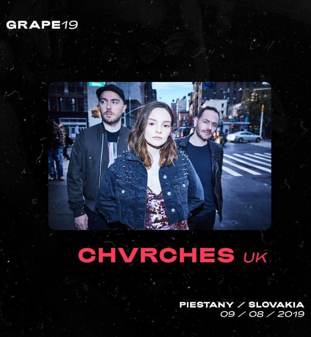 CHVRCHES Are Headed to Slovakia for Grape Festival Next Year