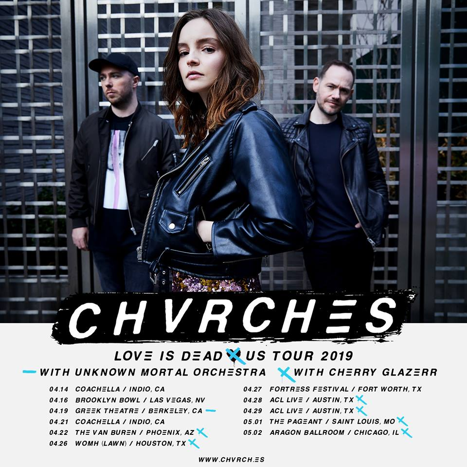 CHVRCHES Announce Spring 2019 US Tour Dates