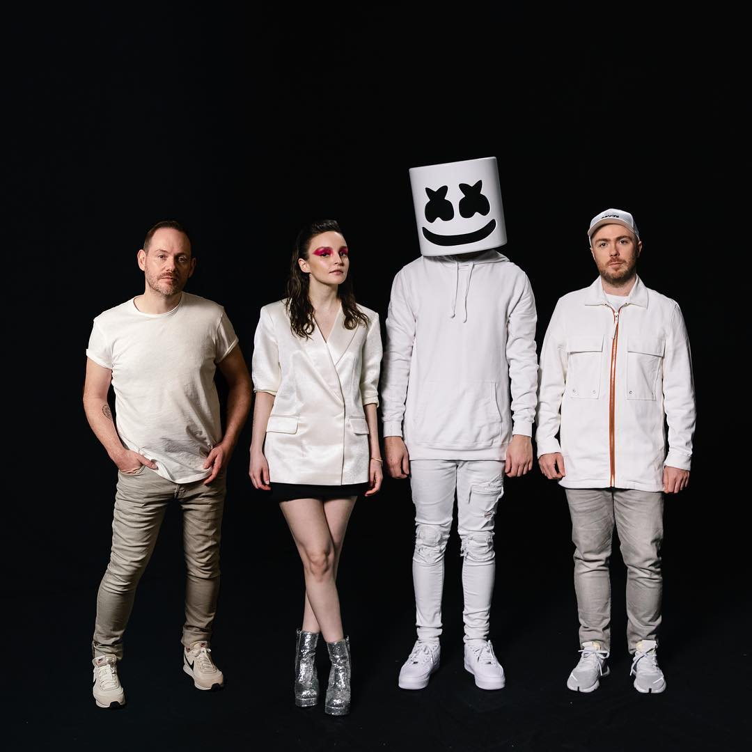"Listen to ""Here With Me"" by Marshmello Featuring CHVRCHES"