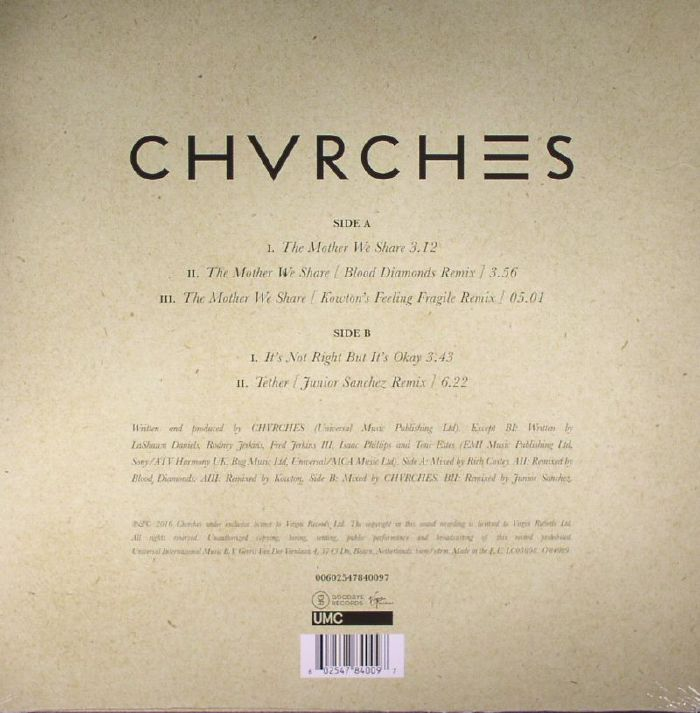 CHVRCHES Reissue The Mother We Share on Vinyl